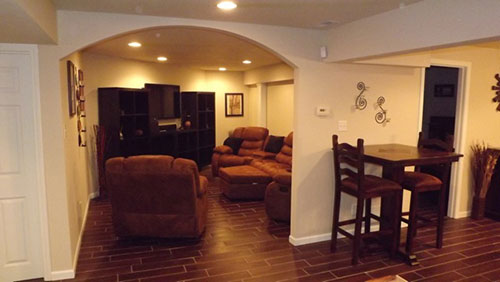 Used Furniture Lawrence Ks Lawrence KS Residential Basement Remodeling | Natural Breeze ...